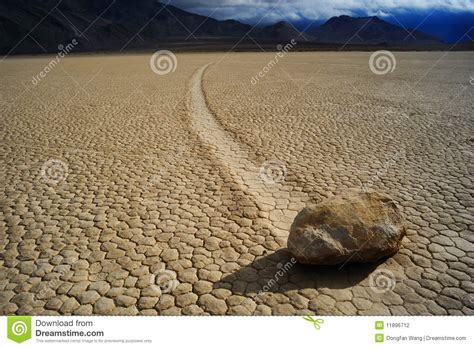 stone desert moving stone in the desert stock photo image of america