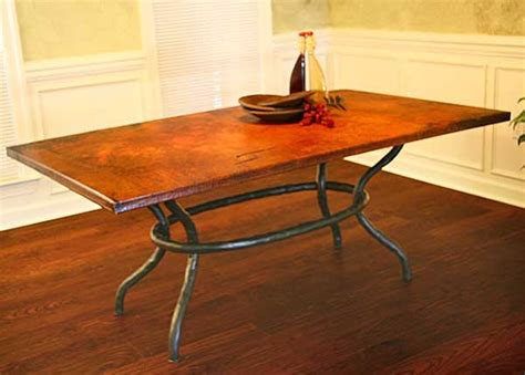 copper dining room tables copper dining room table for the home pinterest