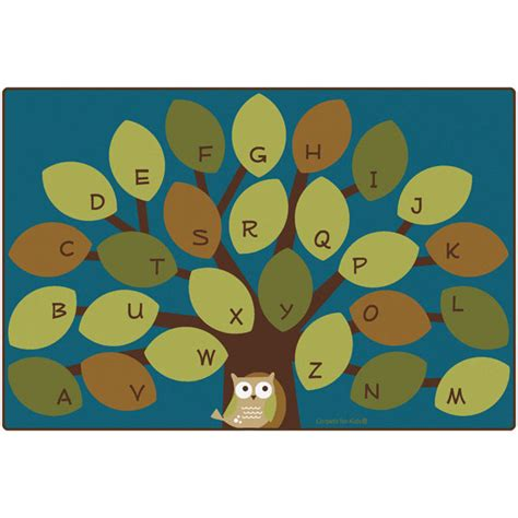 Owl Rug For Classroom carpets for owl phabet tree classroom rugs at schoolsin