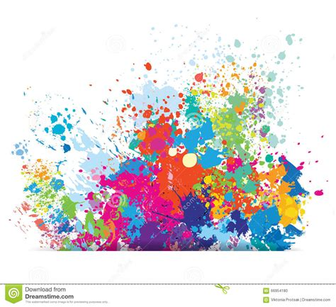 color background of paint splashes stock vector image 66954180