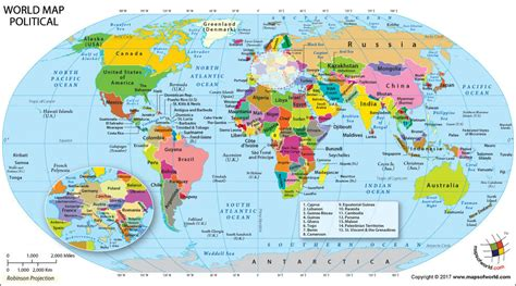 list of countries of the world continents world map