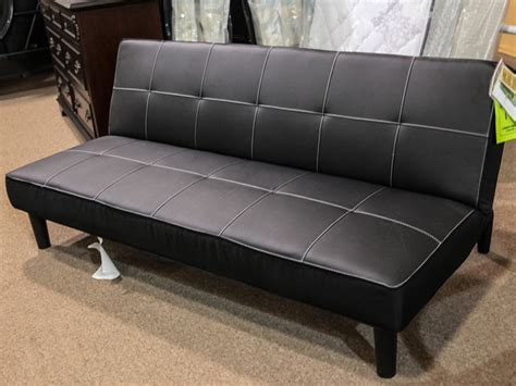 leather full sleeper sofa black leather futon furniture of america mancora