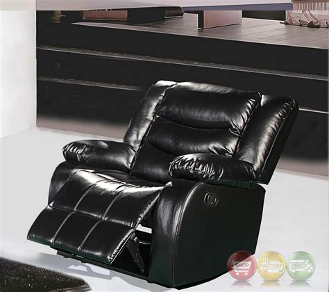 black rocker recliner chair 644bl black leather rocker reclining chair with pillow arms