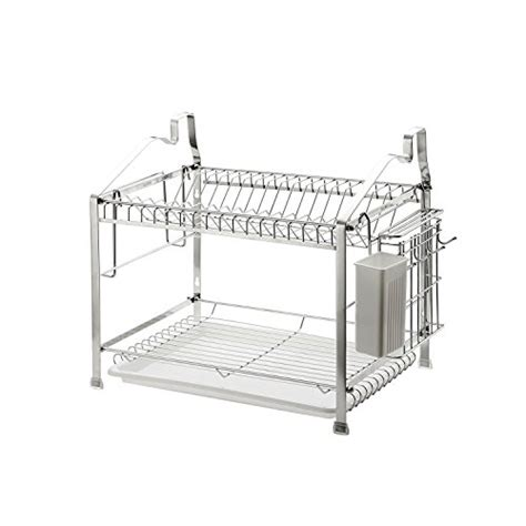 2 Tier Dish Rack Stainless Steel by Geyueya Home Stainless Steel 2 Tier Dish Drying Rack