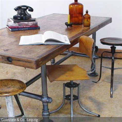 rustikaler schicker speisesaal rustikale holzbank im wohnzimmer industriell schick und