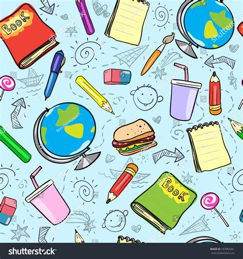 pattern design school seamless school background back school pattern stock