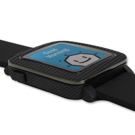 Pebble Time Skin skinomi techskin pebble time carbon fiber skin protector