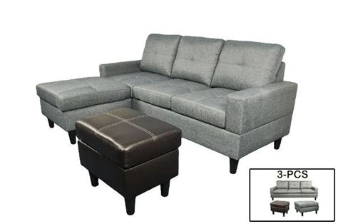 microfiber and faux leather sectional sofa f072 t gray microfiber and faux leather sectional with