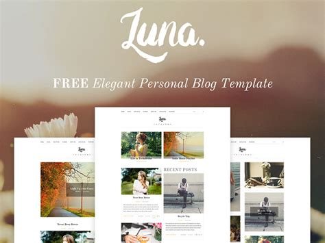 luna blog psd template freebiesbug