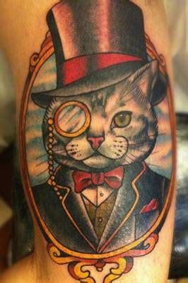 cartoon realism tattoo cat tattoo picking the purrfect style richmond tattoo shops