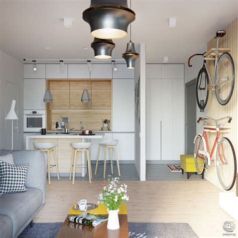 kitchen entryway ideas grey and yellow open plan small apartment tour