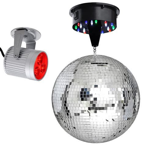 Led Motor 12 quot mirror disco dj stage led light rotating motor 3w spotlight kit ebay