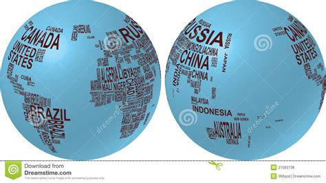 globe map with country names world map with country name royalty free stock photos