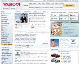 www yahoo home page yahoo homepage in two flavors