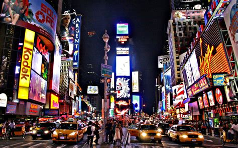 New York Time Square by HairJay fond ecran wallpaper hd background