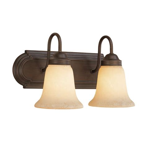 Bathroom Vanity Lights Bronze Shop Millennium Lighting 2 Light Rubbed Bronze Standard Bathroom Vanity Light At Lowes