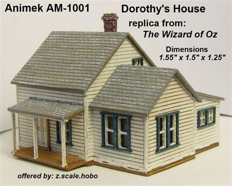 dorothy s house wizard of oz animek z am 1001 dorothy s house z scale hobo