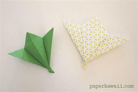 Origami With Leaf Paper - origami leaf tutorial paper kawaii