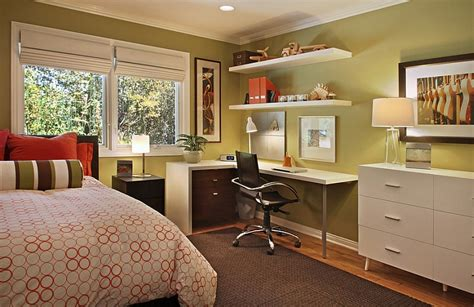 bedroom and office turn the bedroom corner into your home office decoist