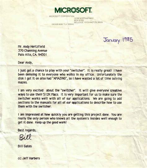 Bill Gates Letter To Steve folklore org switcher
