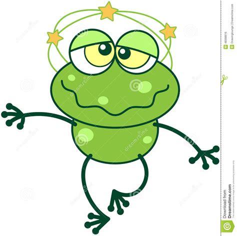 vomito giramenti di testa avere giramenti di testa della rana verde illustrazione