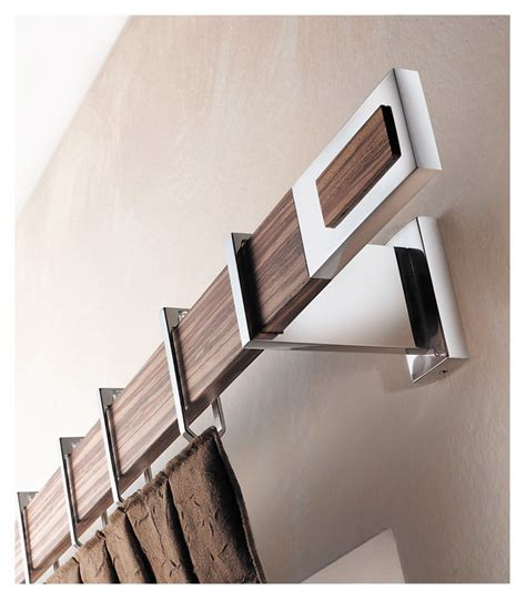 modern curtain rod 67 polished aluminum r zebrano hardware inspiration luxury fabrics and window