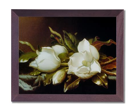 Magnolia Wall Decor by White Magnolia Flower Floral Wall Picture Cherry Framed Print Ebay