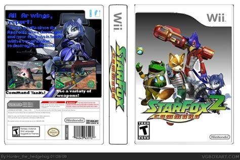 Kaset Cd Nintendo Wii U Fox Zero Wii U fox command 2 wii box cover by hunter the hedgehog