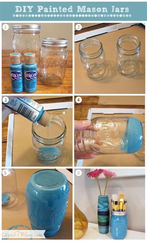 acrylic painting jars diy painted jars