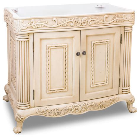 antique white ornate vanity  top traditional bathroom vanities  sink consoles