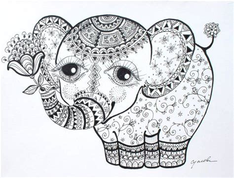 coloring pages for adults elephant printable 18 elephant mandala coloring pages 5428