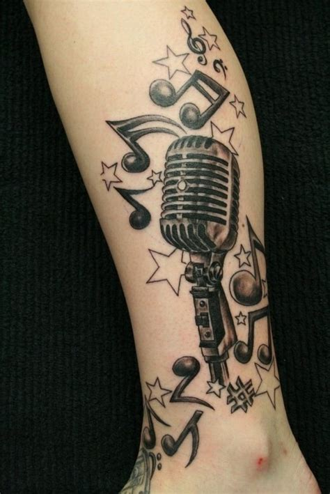tattoo microphone and guitar microphone tattoo tattoo ideas pinterest microphone