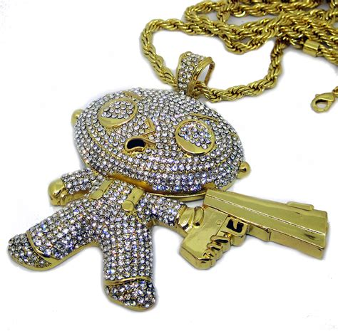 fully iced out gangster baby gold plated hiphop