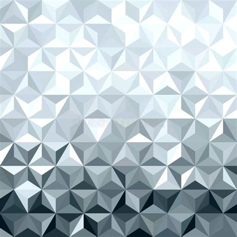 pattern low poly vector metal silver 3d geometry low poly seamless pattern stock