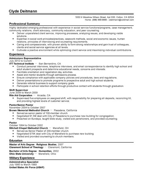College Admissions Representative Sle Resume by Professional Admissions Representative Templates To Showcase Your Talent Myperfectresume