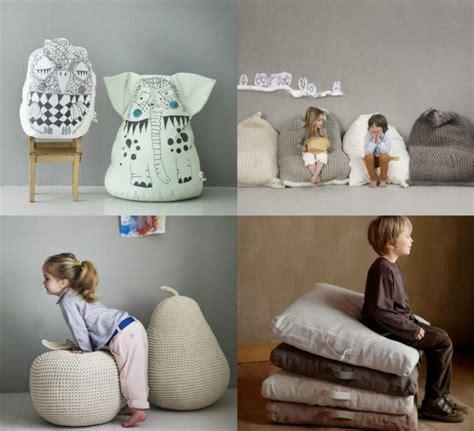 pouf chambre enfant fauteuil pouf design pour un int 233 rieur confortable