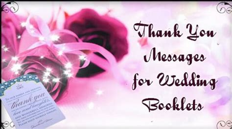 Wedding Wishes Thank You Messages by Thank You Messages For Wedding Booklets