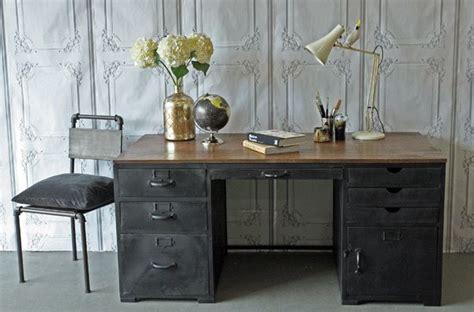 industrial style desk dream home pinterest