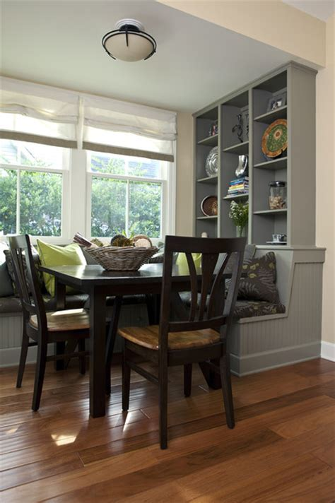 dining banquette traditional kitchen charleston