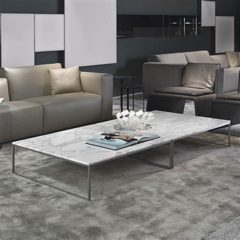 Porto square marble coffee table amp chrome