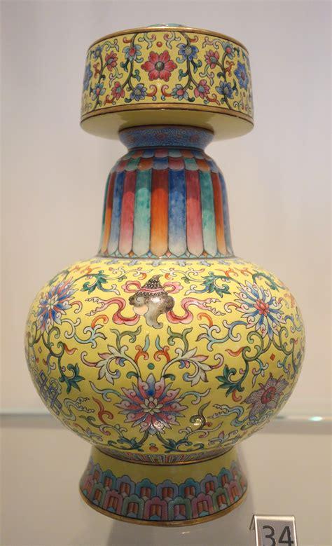 Vase China File Jingdezhen Vase China Qing Dynasty Jiaqing Period