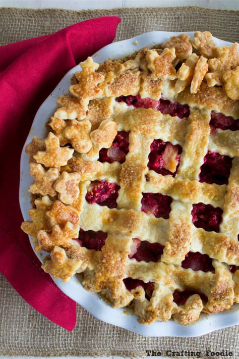 fruit used to make sweet pies pear cranberry pie recipe with a all butter