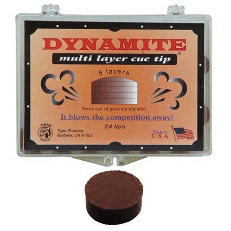 Tiger Dynamite Layered Cue Tip tiger dynamite tip 14mm billiard cue tips tpqtdy from