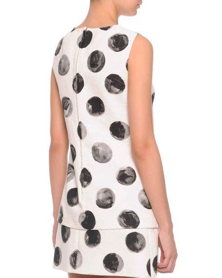 painted white polka dot on dolce gabbana sleeveless painted polka dot top painted