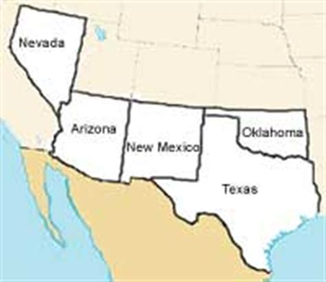 map of the united states southwest region regions of the us mrs kubo s class