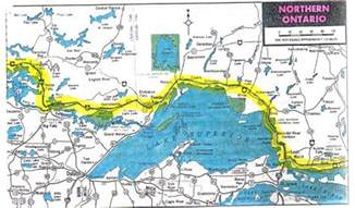 road map of ontario canada northern ontario i