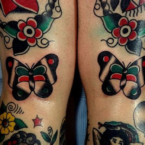 butterfly tattoo knee traditional butterfly tattoo in the knee ditch by dforb