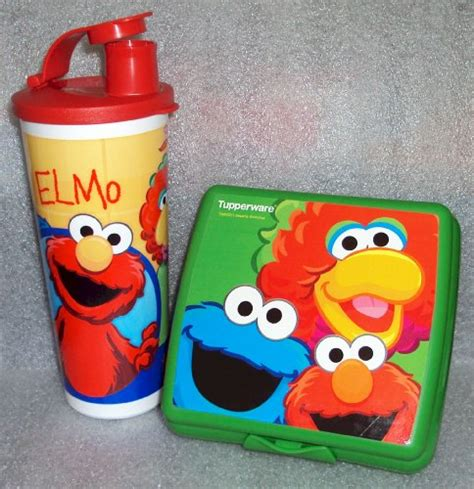 Lunch Keeper Set 1 tupperware lunch set sesame muppets elmo cookie