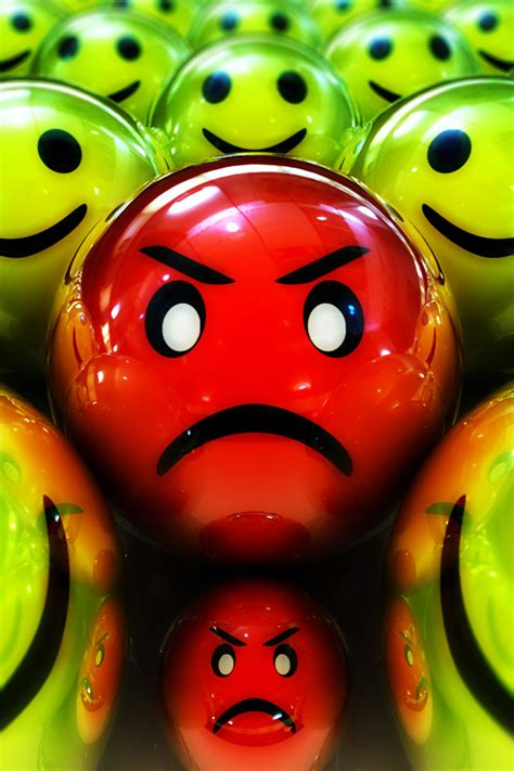 angry emoticon wallpaper angry smiley iphone wallpaper hd