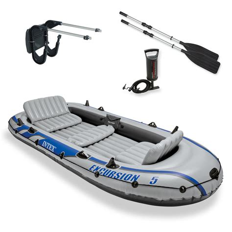 inflatable fishing boat ebay intex excursion 5 inflatable rafting and fishing boat with